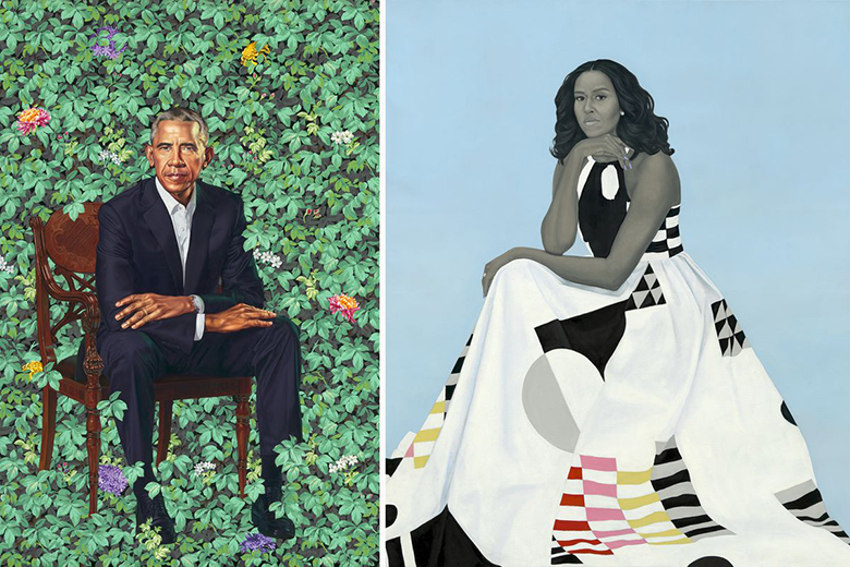 Portraits of the Obamas